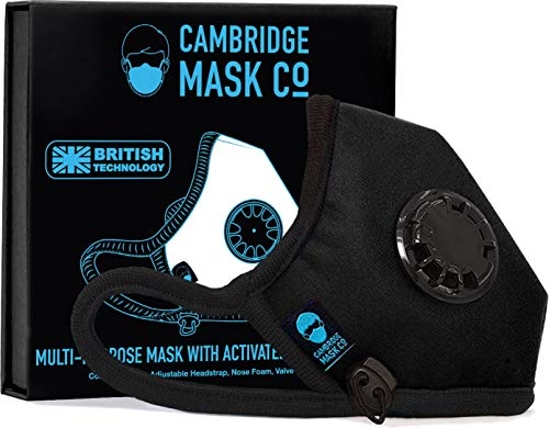 Cambridge Mask Co Sport Plus Mask – Pollution Face Mask with Upgraded Filter for Biking, Cycling,...
