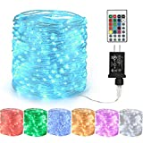 Lyhope Led Fairy Lights, 66ft 200 LED Color Changing RGB String Lights with Remote, Twinkle Decoration Lights with 12V UL Listed Adapter for DIY Home,Valentine,Holiday,Party, Xmas Tree Decor