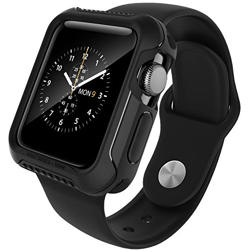 Caseology Vault Designed for Apple Watch Series 3 Case 38mm (2017) - Matte Black