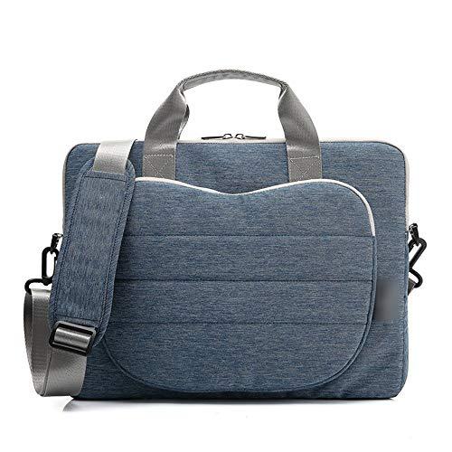 WYALM Notebook Messager Laptop Bag Waterproof Computer Bag Shoulder Bag Handbag Male (Color : Blue, Size : 12inch)