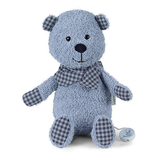 aus über 100 Melodien wählen - Sterntaler Terrybären Baby Spieluhr L Baylee blue - 6021871 - Melodiewahl durch individuelles Spielwerk (* Melodie LaLeLu)