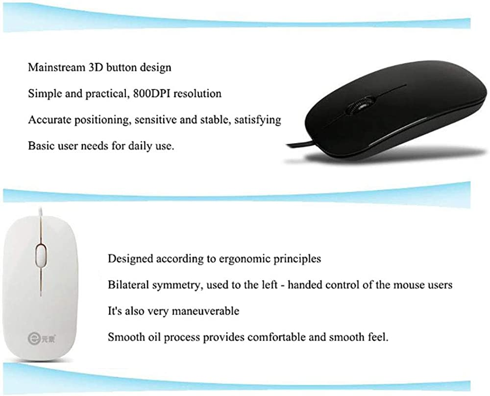 Wireless Mouse Ultra-Thin Fashion Wired Laptop USB Office Dedicated Mouseusb Pc Laptop Computer Cordless Mice with Nano Mouse
