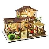 Casa de muñecas en miniatura con muebles, kit de casa de muñecas, miniatura montada, casa de pie con movimiento musical, para niñas, Navidad, cumpleaños, tamaño 1: 24