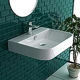 Gäste WC Waschbecken Weiß Keramik Waschtisch Aufsatzbecken Mini Handwaschbecken mit