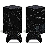 Skin for Xbox Series X, Whole Body Vinyl Decal Protective Cover Wrap Sticker for Xbox Series X Console and Wireless Controller (Black Marble)