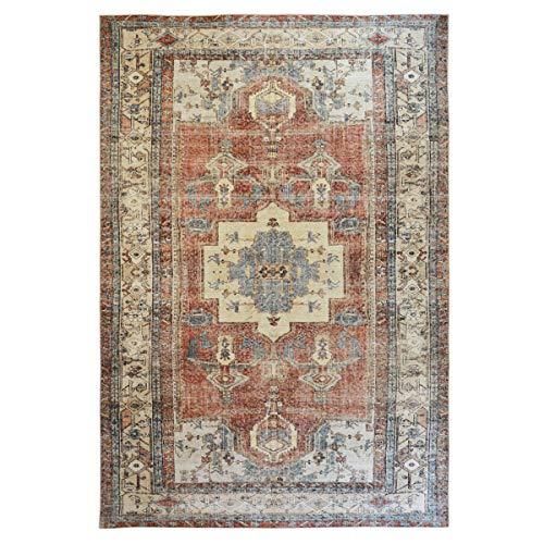 WEBTAPPETI.IT Alfombra oriental turco original para salón, color rojo afgano, 160 x 230 cm