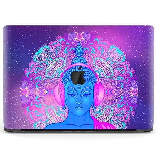 Mertak Hard Case Compatible with MacBook Pro 16 Air 13 inch Mac 15 Retina 12 11 2020 2019 2018 2017 Laptop Cover Touch Bar Buddha Psychedelic Plastic Clear Protective God Funny Music Mandala Trippy