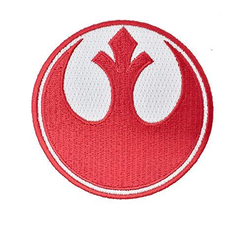 Super6props Star Wars Rebel Alliance Parche bordado con escuadrón rojo para planchar (75 mm)