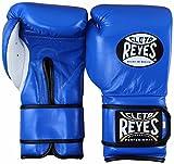 Cleto Reyes guantes de boxeo de formación colección, profesional, Safetec, Lace Up, Hook & Loop, extra acolchado, híbrida ajuste puños y guantes de boxeo, XL, Blue (Hoop and Loop)