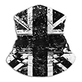 Carwayii White and Black British Flag England Neck Warmer Windproof Comfy Face Cover Mask Balaclava Breathable Lightweight Mouth Cover Multifunctional Soft Bandanas for Men Women