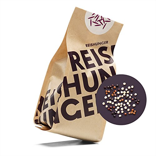 Reishunger Bunter Quinoa Mix, Bio (200g) - Mischung aus weißer, roter und schwarzer Quinoa aus Peru - erhältlich in 200 g bis 9 kg