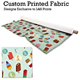Eisform grün Retro Design Digital Print Stoff Strick