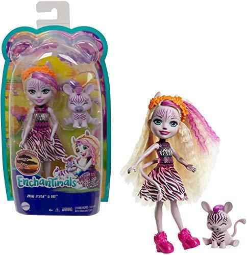 Enchantimals Zadie Zebra y Ref Muñeca con mascota, juguete para niñas y niños +4 años (Mattel GTM27)