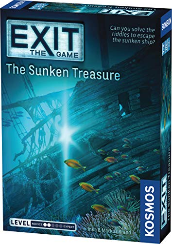 Exit: The Sunken Treasure | Exit: The Game - A Kosmos Game | Family-Friendly, Card-Based At-Home Escape Room Experience for 1 To 4 Players, Ages 10+