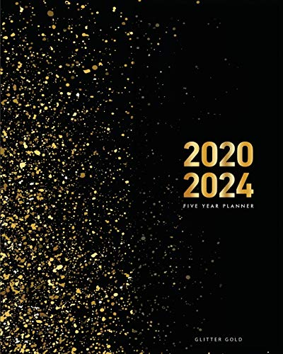 2020-2024 Five Year Planner-Gold Glitter: 60 Months Calendar, 5 Year Monthly Appointment Notebook, Agenda Schedule Organizer Logbook and Business ... Federal Holidays (2020,2021,2022,2023,2024)