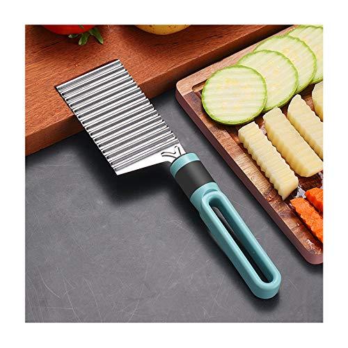 Coupe Frites 2 pcs Coupeur de pommes de terre froissé, slicer de pomme de terre en acier inoxydable for frites frites Chopper Cutter de légumes Home Cuisine Cuisine Couteau à découper Coupe-frites