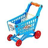Color Yun Simule el Carrito de la Compra del supermercado Juego de simulación Juguetes Mini Carrito de plástico (Multicolor) 28x15x30cm