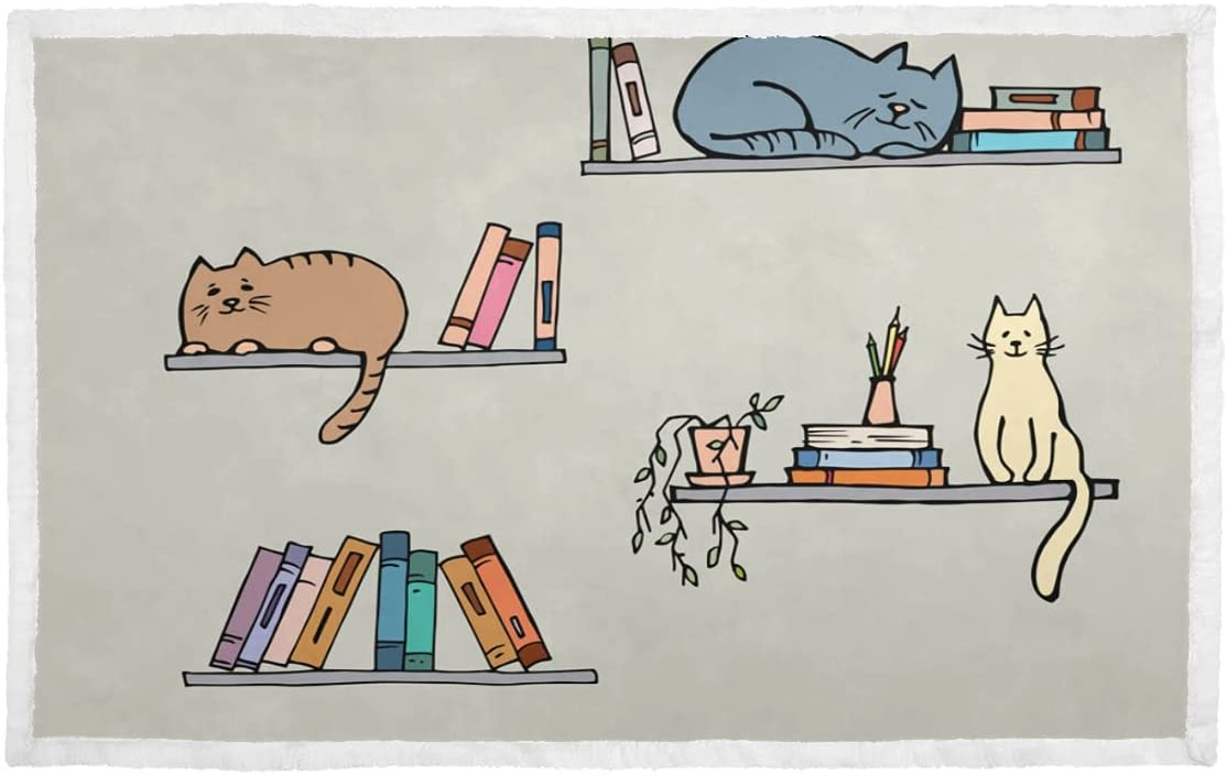 Pet Blanket Bookshelf with Super Al sold out. sale period limited Fantasy Clever Personalized Cat Dog B