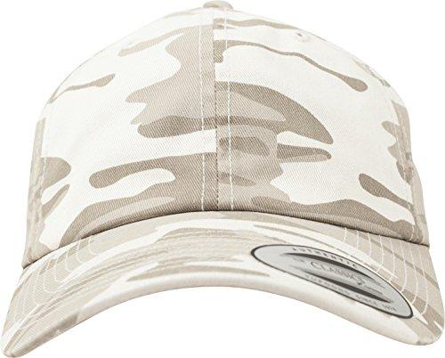 Flexfit Low Profile Camo Washed Cap Unisex Kappe für Damen und Herren,  Base Cap mit Camouflage Muster und Schnallenverschluss