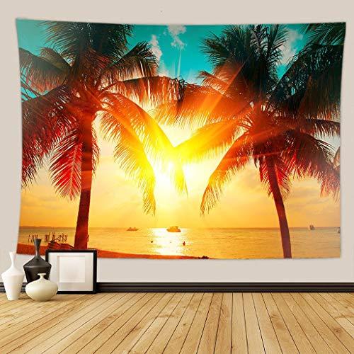 KHKJ Verde Bosque árbol tapices para Colgar en la Pared Mandala Corriente Natural Flor Dormitorio decoración de la Pared Manta de campingDropshipping A38 230x180cm