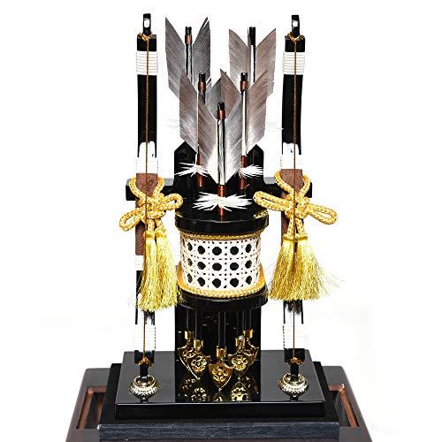 【初節句】【破魔弓】11号大和[YAMATO]漆黒塗アクリル六面体ケース【正月飾】【破魔矢】
