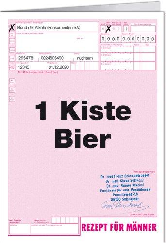 Grußkarte 11,5x16 cm +++ LUSTIG von modern times +++ 1 KISTE BIER +++ ART & IMAGE