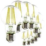 SunSeed® 10x Glühfaden LED classic Lampe E27 9W ersetzt 90W Neutralweiß 4000K
