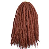 Wanya Afro Marley Twist Braiding Braids Hair 3 Packs Afro Kinkys Curly Twist Hair Extension 18 Afro Marley Crochet Braid Kanekalon Synthetic Marley Braids 100g/pec(350#,3pcs)