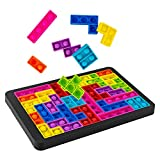 Push it Pop Puzzle Game Fidget Jigsaw Toys,Rainbow Chess Board Push Bubble Tetris Building Block Game Play Toy,Pop it Game Board for Kids Adult Pressure Relieving Best Gift