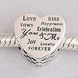 YDMZMS Auténtico 925 Joyas de Plata DIY Feliz cumpleaños Crucero Buho Libro Cuento de Hadas Cerradura Amor Beso Pastel Encantos encajan Pulseras1