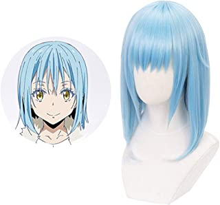 HomMall That Time I Got Reincarnated As A Slime Characters Play Cosplay Wigs Anime Costume Synthetic Hair(Rimuru Tempest)