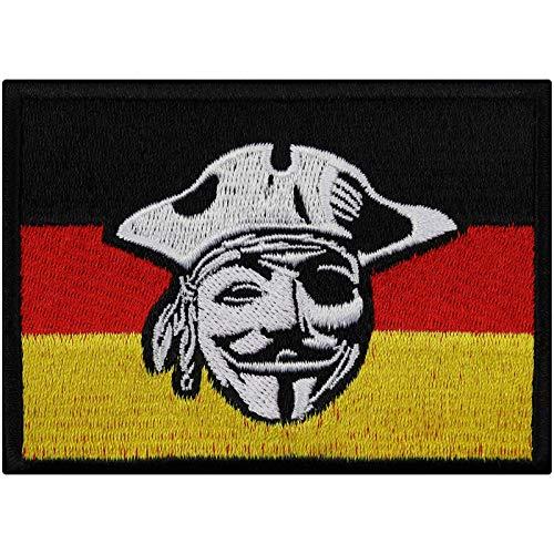 Parche de la Bandera de Alemania, Motorista, Parche de Vendetta, Imagen termoadhesiva, Pegatina de Metal Resistente, para Coser, DIY, para Chaquetas de Cuero, Vaqueros, Bolsas, 90 x 65 mm