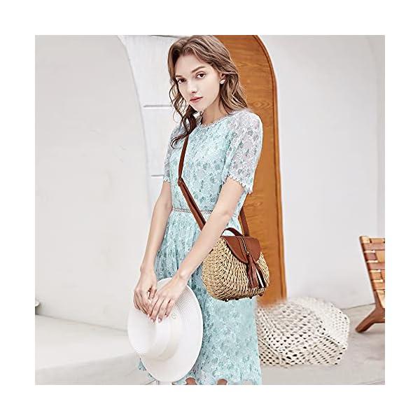 Angel Kiss Straw Beach Bags Tote Beach Handmade Woven Shoulder Rattan Handbag for Women