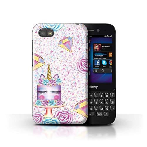 eSwish Hülle/Hülle für BlackBerry Q5 / Bling Diamant Muster/Einhorn Party Kollektion