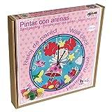 Arenart | Lámina Reloj Hada Ø30 cm | para Pintar con Arenas de Colores | Manualidades para Niñas | Dibujo Infantil | Pintar por números | +6 años
