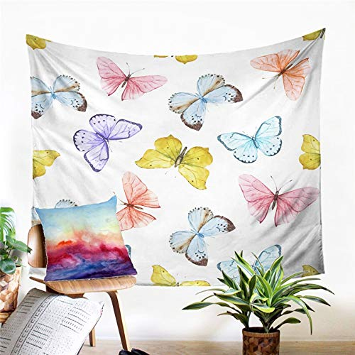 N / A Tapestry home decoration Butterfly Tapestry Wall Hanging Sandy Beach Picnic Rug Camping Tent Sleeping Pad Home Decor Bedspread Sheet Wall Cloth