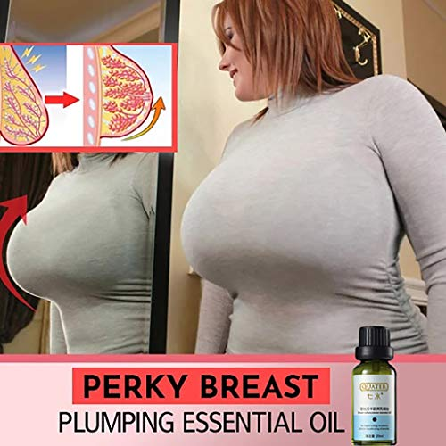 YOYORI Breast Massage Oil,Confident Breasts Plump Essential Oil Lively Breasts Plump Essential Oil 20ML, Herbal Enlargement Chest (White)