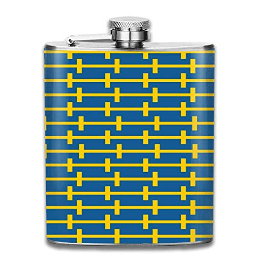 Flask Originaliteit Zweden Vlag RVS Kleine Hip Flask Mens Lekvrij Vlagon Outdoor Draagbare Flask voor Alcohol Whiskey Rum en Vodka