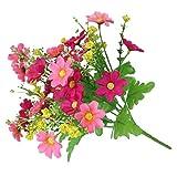 Ramo artificial Bibabo25 de margaritas con 28 flores, 1 unidad, rosa