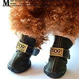 Colorfulhouse Dog Australia Winter Warm Dog Boots 4 Pcs (Black, 3)