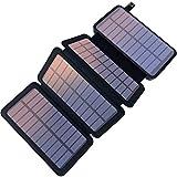 YELOMIN Solar Powerbank 25000mAh Tragbares Solar Ladegerät mit 4 Solarpanels,Outdoor wasserfester...