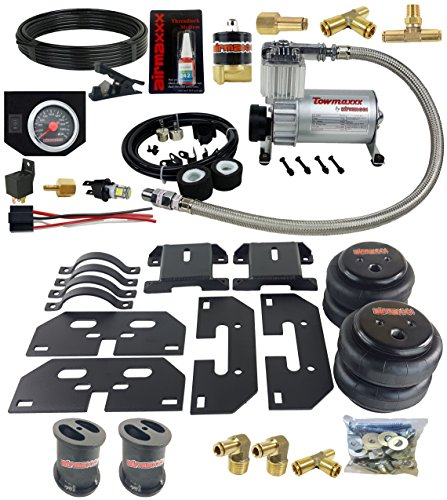 "airmaxxx Over Load Tow Kit Compressor & Blk Gauge Fits 2003-2013 Dodge Ram 2500/3500 6"" Lifted Truck"