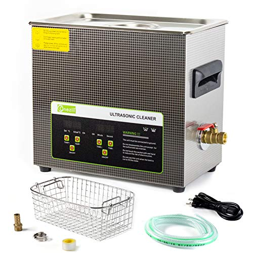 ONEZILI Ultrasonic Cleaner 6L, 180W Ultrasonic Carburetor...