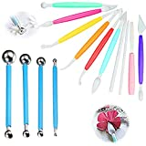 Cake Modelling Decorating Tool per Flower Paste Metal Ball Cake Decorating Sugarcraft Scultura Tools Kit Fiore Mold Cookie Cutters