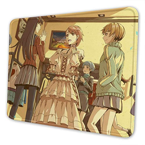 Persona Chie Yukiko Rise Mouse Pad Non-Slip Gaming Mouse Pad with Stitched Edge Computer PC Mousepad Rubber Base for Office Home