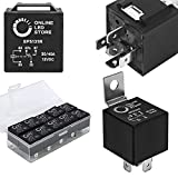 10 Pack Bosch Style 5-Pin 12V Relay Switch [SPDT] [30/40 Amp] 12 Volt Automotive Relays for Auto Fan Cars