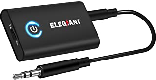 Bluetooth 5.0トランスミッター ELEGIANT Bluetoothレシーバー (受信機 + 送信機 一台二役) オーディオ デジタル トランスミッター ワイヤレス 小型 高音質 2台同時接続 低遅延 パソコン/イヤホン/テレビ/車