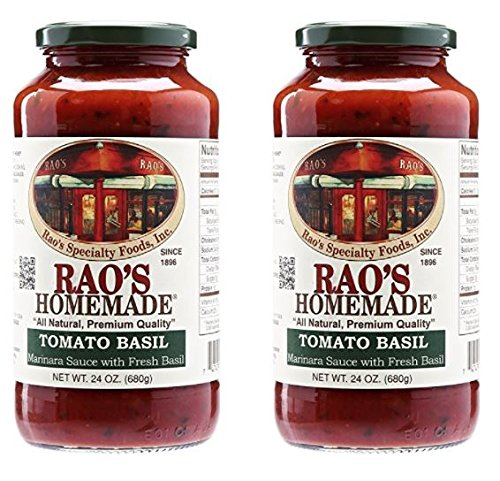 Raos Specialty Food Rao's Tomato Basil Sauce, 24 oz (Pack of 2)