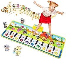 SANMERSEN ピアノミュージックマット キーボードプレイマット 音楽プレーマット ピアノマット 9鍵盤 8種類の楽器を内蔵 スピーカー搭載 録音機能 再生機能 デモモード プレイモード 知育玩具 誕生日 子供日ギフト CPSIA認証...