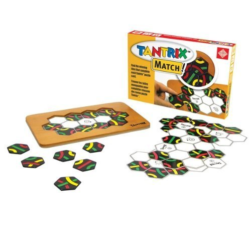 Tantrix Match! Puzzle Board Game with Wooden Board by Family Games